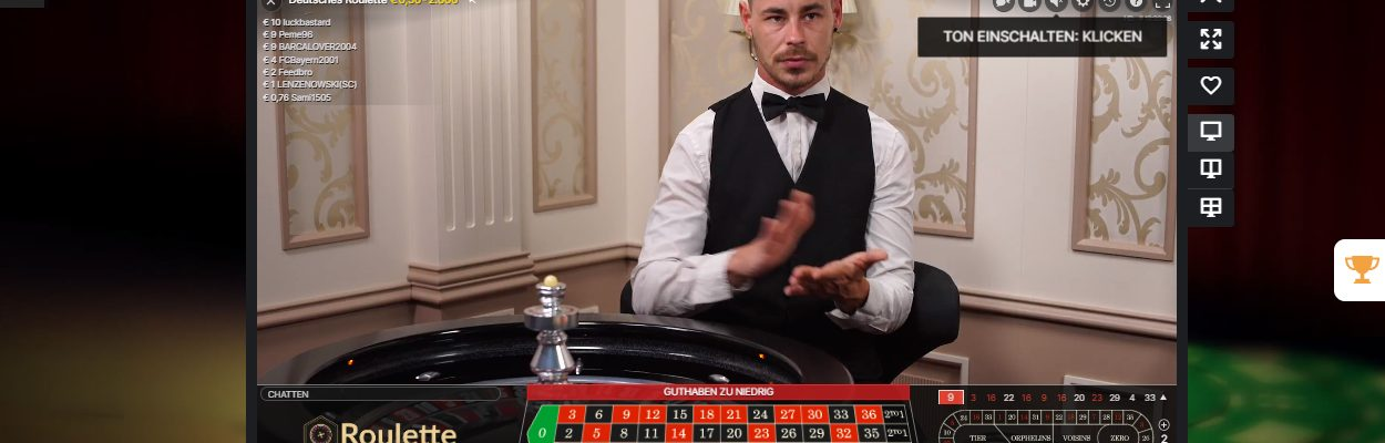 Live Dealer Roulette in der Schweiz Casinos